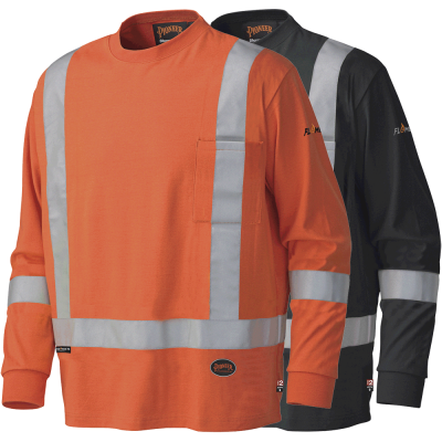 FR/ARC Rated Long-Sleeved Safety Shirt - 100% Cotton