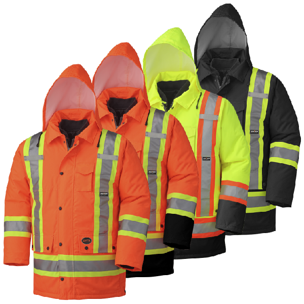 Hi-Viz Waterproof 7-In-1 Safety Parka - 300D PU COATED OX. POLY