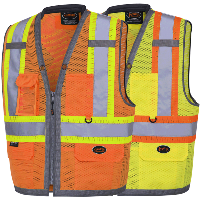 """The Rock"" Hi-Viz Mesh Surveyor's Vest"
