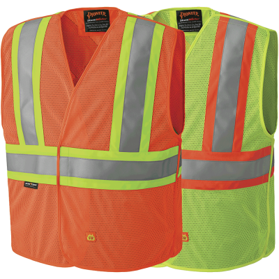 FR Hi-Viz Safety Tear-Away Vest - Poly Mesh