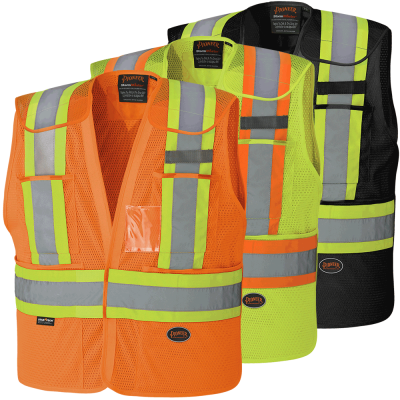 Hi-Viz Drop Shoulder Poly Mesh Safety Tear-Away Vest