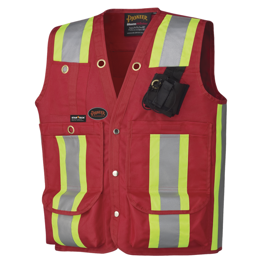 Surveyor's/Supervisor's Safety Vest - 600D Oxford Poly