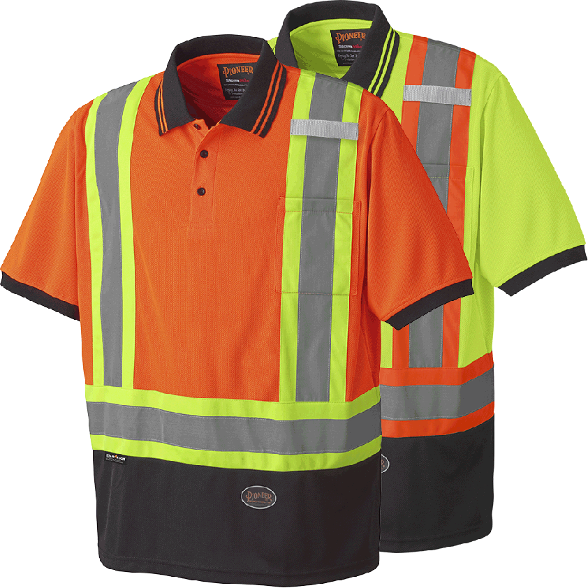 Hi-viz Birdseye Poly Safety Short-sleeved Polo Shirt