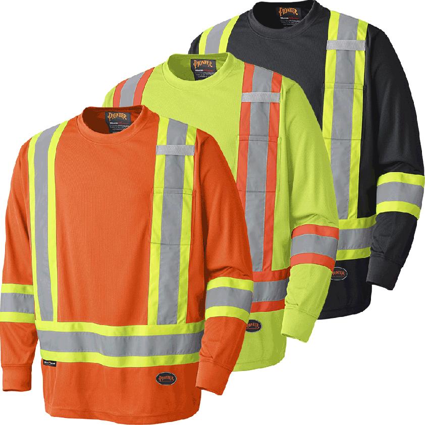 Hi-viz Birdseye Poly Safety Long-sleeved Shirt