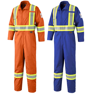 FR-TECH® FR/ARC RATED 7 Oz Hi-Viz Safety Coveralls - 88/12 Cotton/Nylon