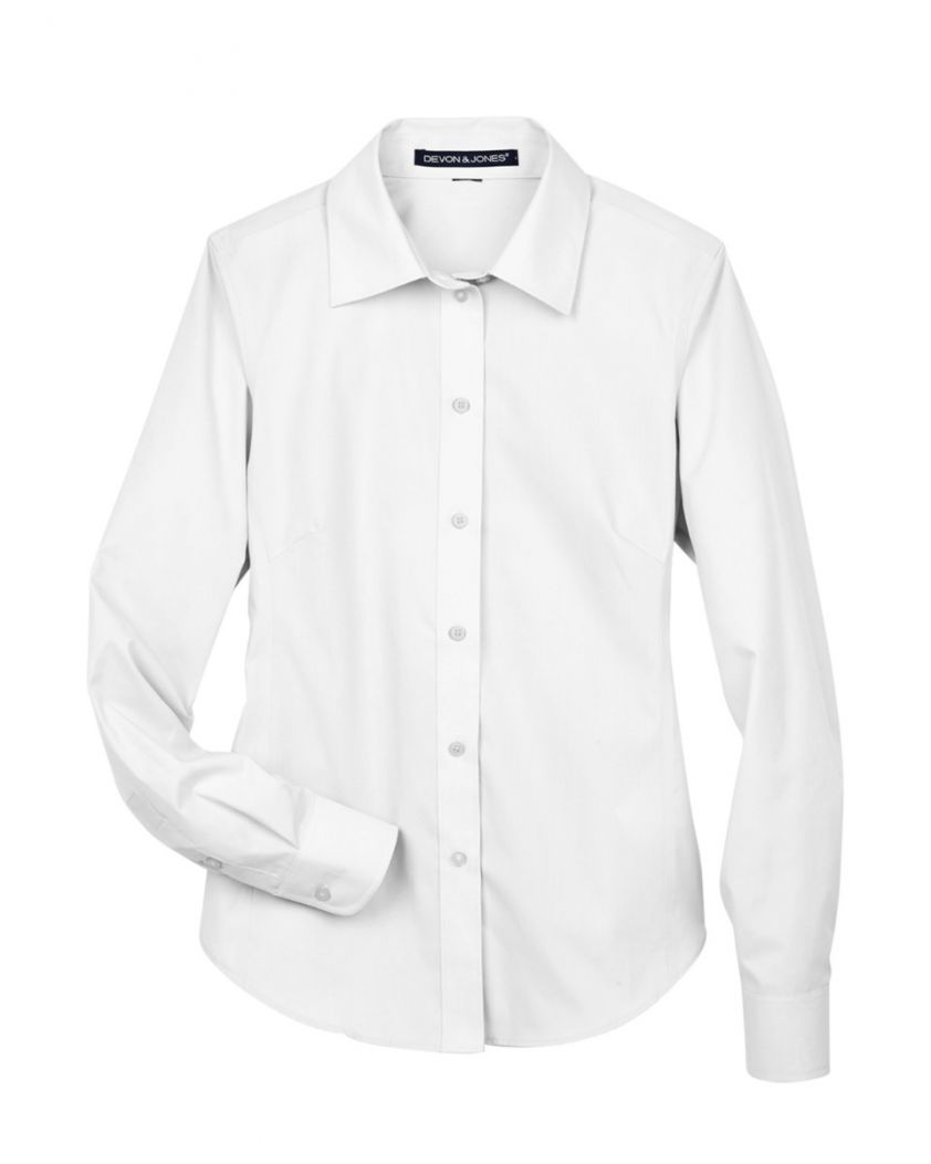 Devon & Jones Ladies' Crown Woven Collection™ Solid Broadcloth