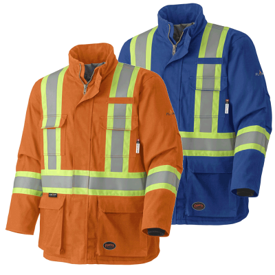 FR-TECH® 88/12 - Arc Rated Quilted Safety Parkas - Modacrylic Insulation