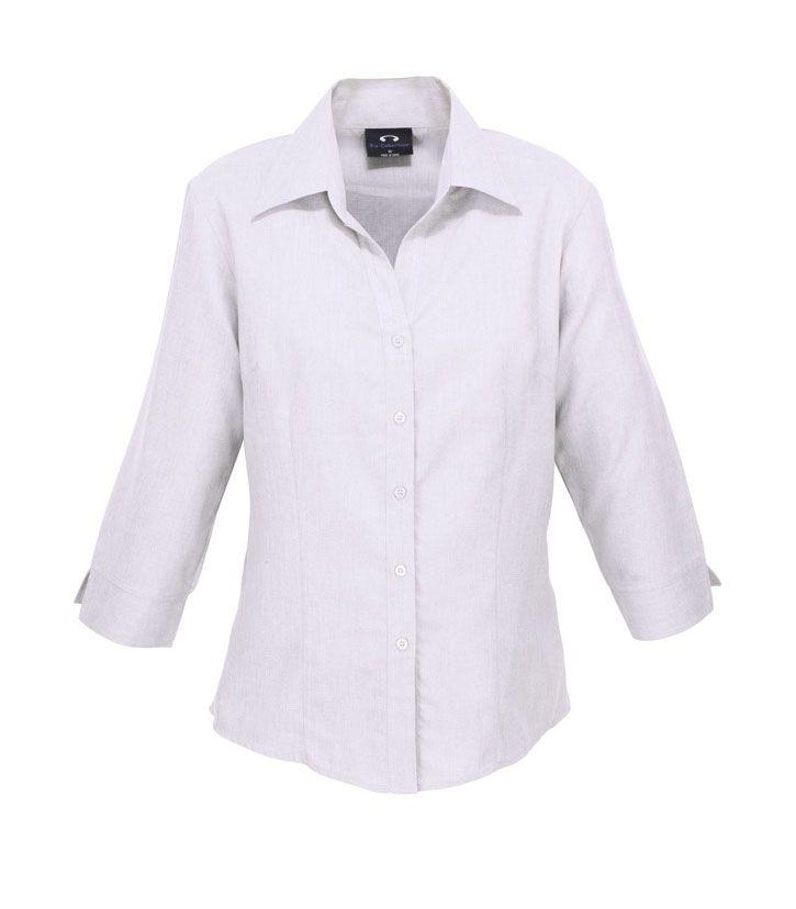 Ladies' Plain Oasis 3/4 Sleeve Shirt