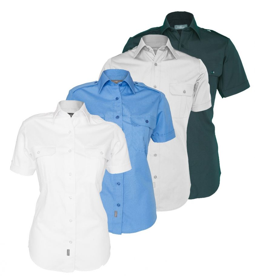 Tuffwear Ladies' Military Short Sleeve Shirt