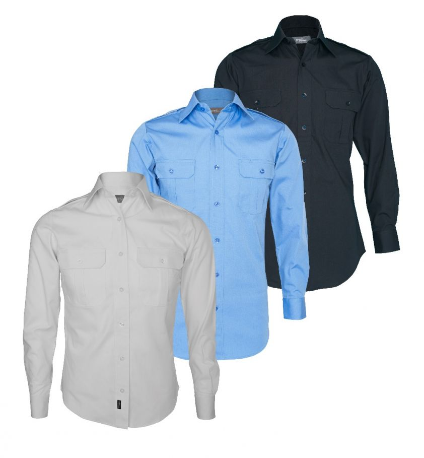 Tuffwear Men's Military Long Sleeve Shirt