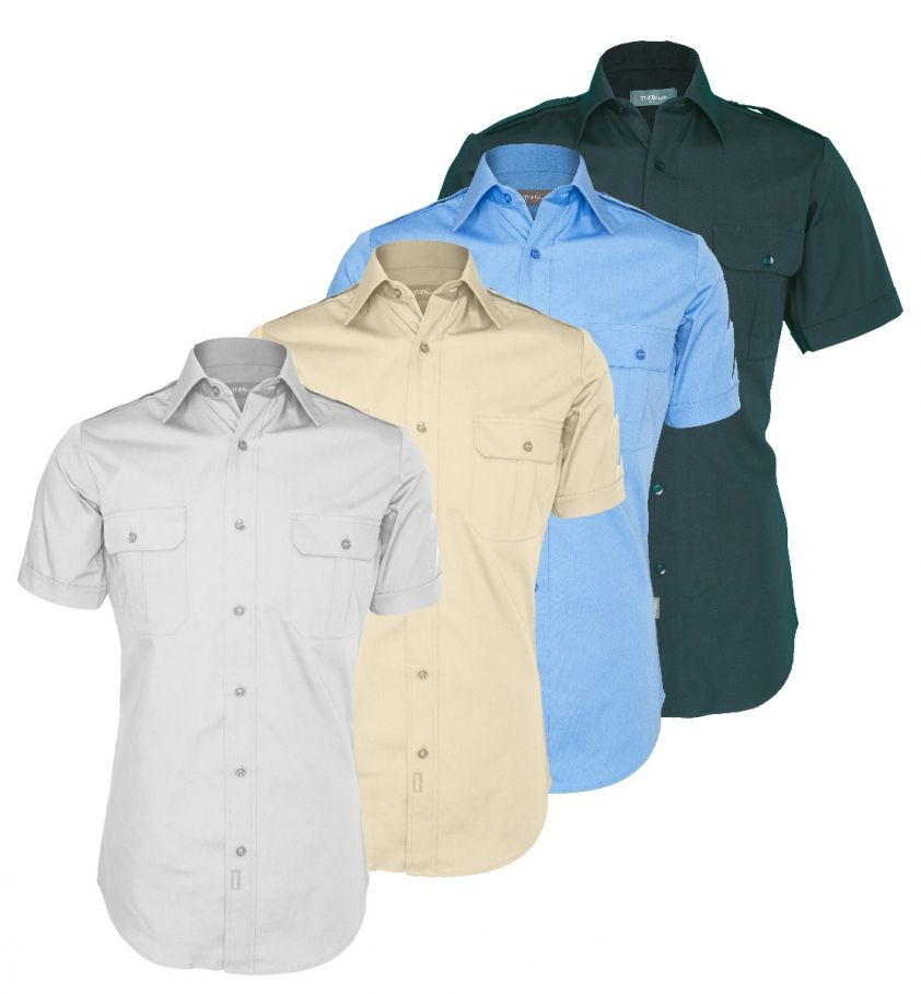 Tuffwear Men's Military Short Sleeve Shirt