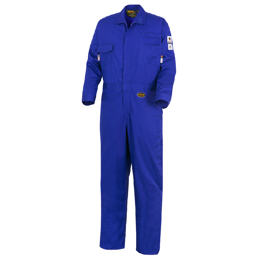Royal Blue FR-TECH® 88/12 FR Coverall 7 Oz Without Stripe