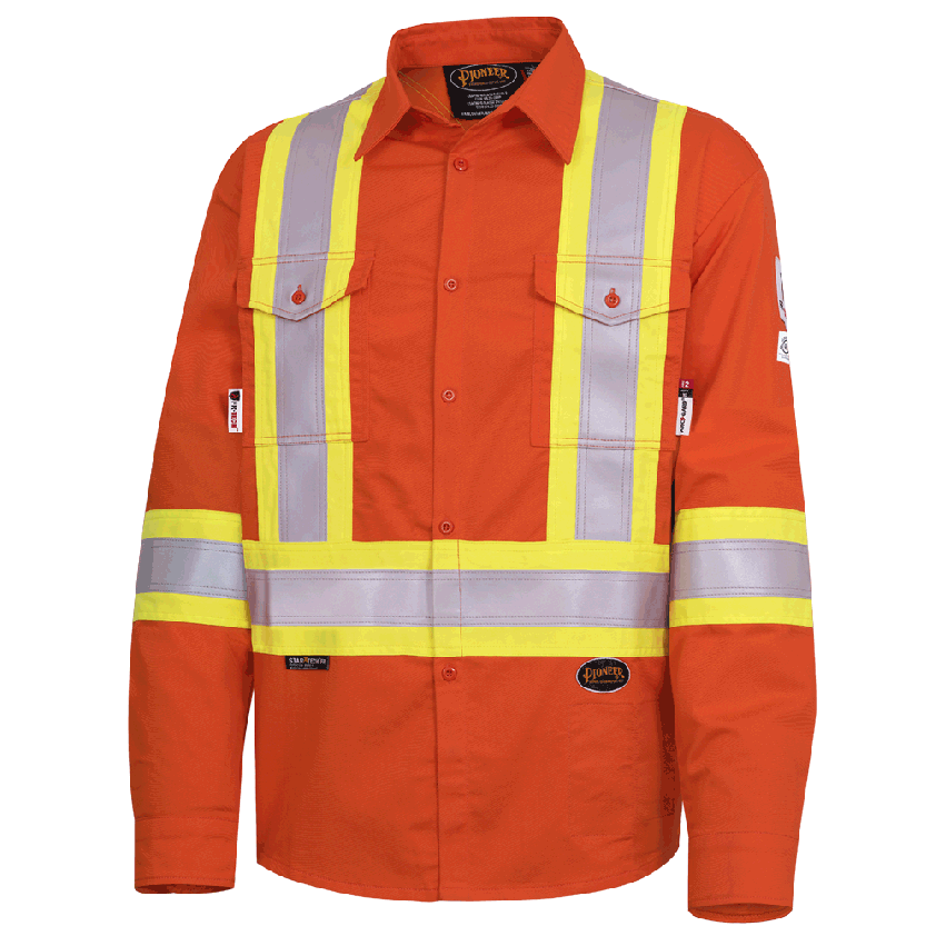 FR-TECH® FR/ARC RATED 7 OZ Hi-Viz Safety Shirt