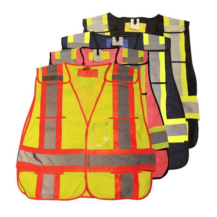 100% Polyester Tear-Away Safety Vest
